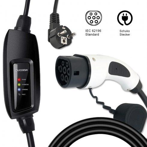 elektromos autó EVSE töltőkábel DUOSIDA