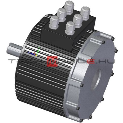 BLDC three-phase motor 48V 10kW water cooled