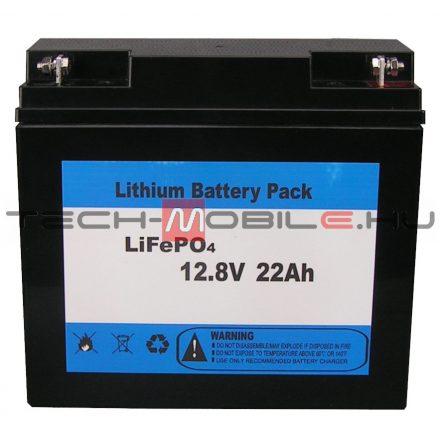 12V 22Ah lítium ion akkumulátor, LiFePO4