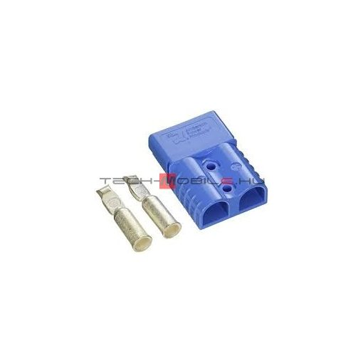 Connector - Anderson 2-pole connector SB120 housing and contact - blue