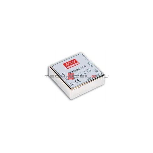 DC / DC converter 36/72 VDC in / 12 VDC out / 30 W can be installed in SMD