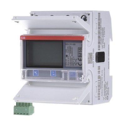 ABB digitális teljesítménymérő LCD, 7 számjegyes, 3 fázisú, 65 A-ig, impulzuskimenettel